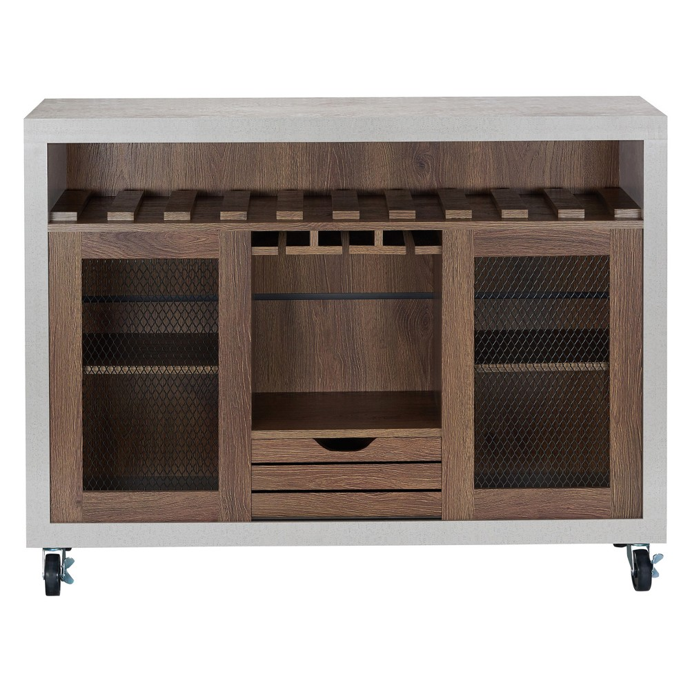 Image of Iohomes Willis Industrial Dining Buffet Distressed Walnut - HOMES: Inside + Out, Brown