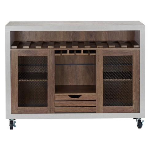 Iohomes Willis Industrial Dining Buffet Distressed Walnut - HOMES: Inside + Out - image 1 of 4