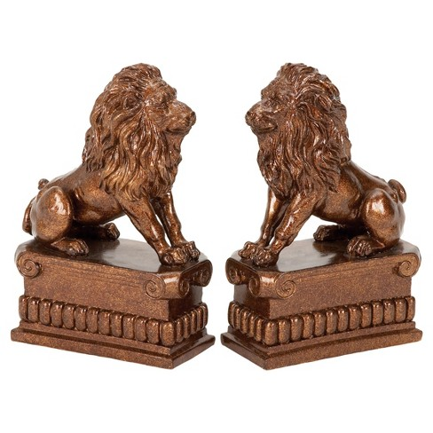 """Animal Instinct Lion Bookends (8"""") 2ct - Olivia & May - image 1 of 4"""