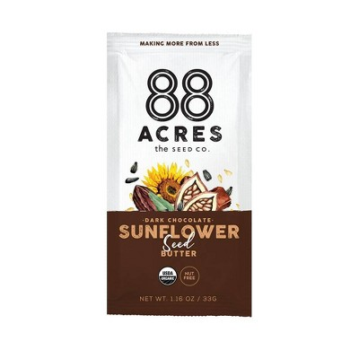 88 Acres Dark Chocolate Sunflower Seed Butter Pouch - 1.16oz