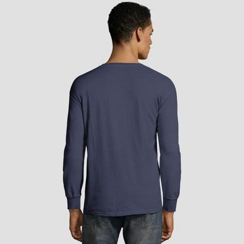 5fe3a008b4c Hanes Men s Long Sleeve 1901 Garment Dyed Pocket T-Shirt   Target