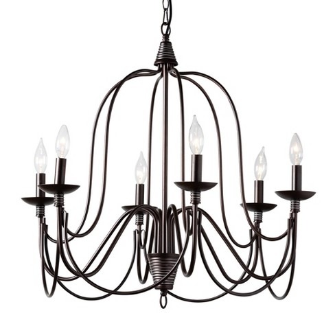 Palmira Metal Chandelier Bronze - Baxton Studio - image 1 of 3