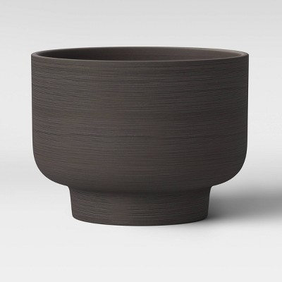 10  Ceramic Footed Planter Charcoal Black - Project 62™