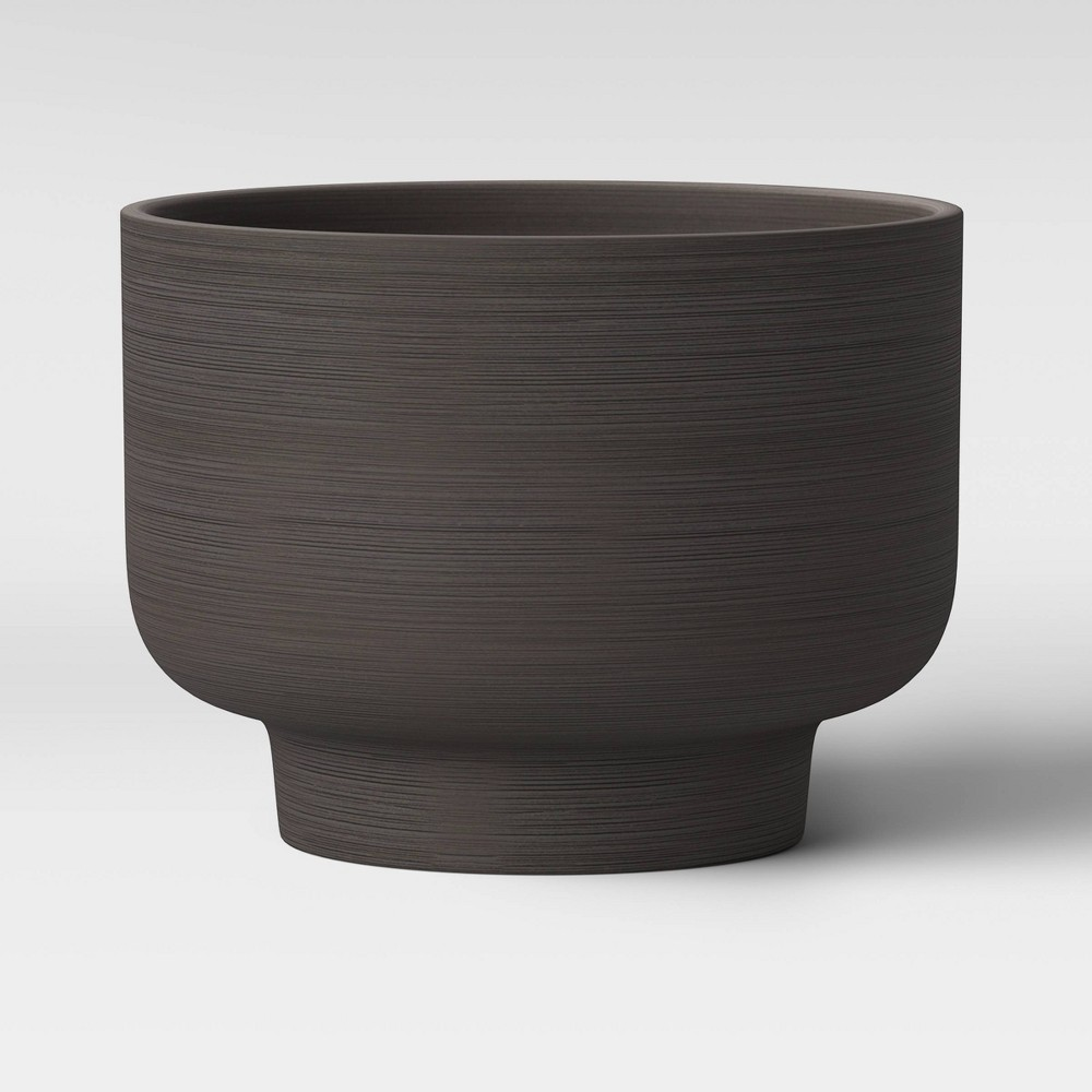 """Image of """"10"""""""" Ceramic Footed Planter Charcoal Black - Project 62"""""""