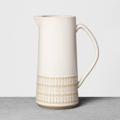 Stoneware Exposed Clay Pitcher Cream - Hearth & Hand™ with Magnolia