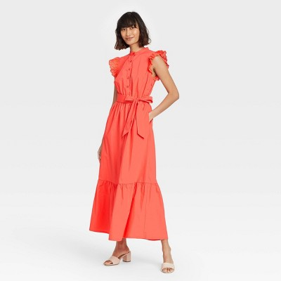 Women's Ruffle Short Sleeve A-Line Dress - Who What Wear™