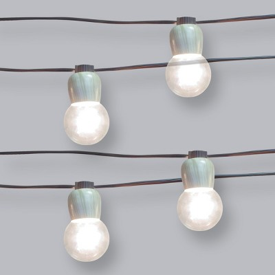 10ct Wood Collar G40 Outdoor String Lights - Opalhouse™