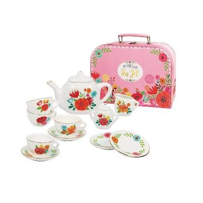 Bright Stripes My Porcelain Tea Set with Carry Case