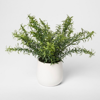 9  x 9  Artificial Rosemary Arrangement In Pot Green/White - Threshold™