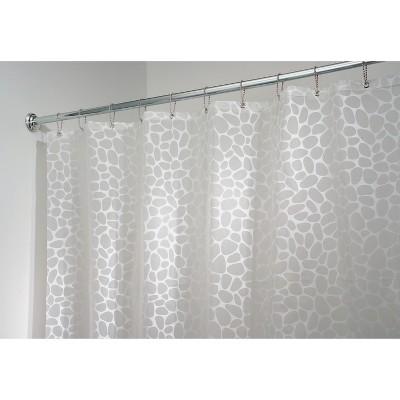 InterDesign Pebblz Soft-Touch PEVA Shower Curtain - Geometric White