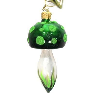 """Morawski 4.0"""" Green Mushroom Ornament Toadstool Spring  -  Tree Ornaments"""