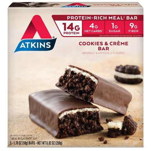 Atkins Nutrition Bars - Cookies & Cream - 5ct - image 1 of 3