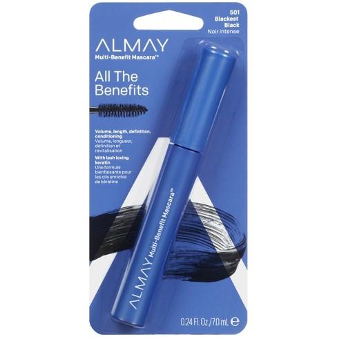 Almay Multi-Benefit Eye Mascara - 4-in-1 Formula Blackest Black - 0.24 fl oz - image 1 of 3