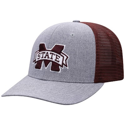 NCAA Mississippi State Bulldogs Men's Gray Chambray with Hard Mesh Snapback Hat