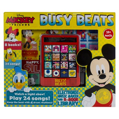 Disney Mickey Mouse and Friends Electronic Busy Beats Music Maker and 8-book Box Set