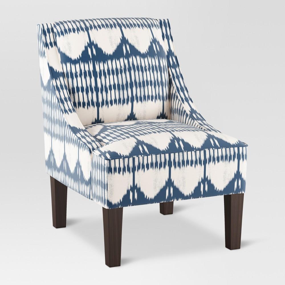 Hudson Swoop Arm Chair - Ikat Blue Tones - Threshold