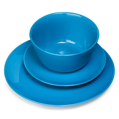 Coupe 12pc Dinnerware Set Blue - Room Essentials™