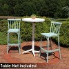 Woodway 4pk Plastic Patio Barstool Chair - Light Green - Sunnydaze Decor - image 4 of 4
