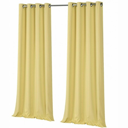 goodgram 2 pack hotel thermal grommet 100 blackout curtains monterey yellow 84 in target target