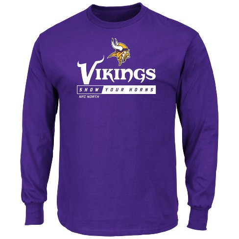 9431a6f7 Minnesota Vikings Men's Team Logo Long Sleeve T-Shirt : Target