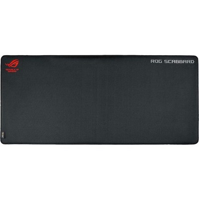 """Asus Scabbard Mouse Pad - Cushioned - 0.1"""" x 35.4"""" x 15.7"""" Dimension - Cloth Surface, Rubber Base"""