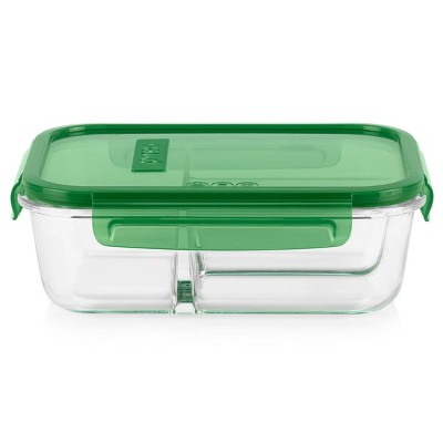 Pyrex 4.1 Cup 3 Compartment Rectangular MealBox Glass Food Storage Container