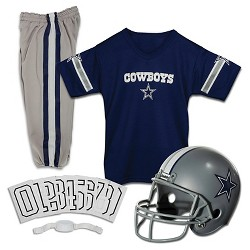 Franklin Sports Dallas Cowboys Deluxe Football Helmet/Uniform Set