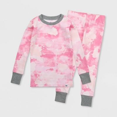 Honest Baby Toddler Girls' Tie-Dye Pajama Set - Pink 2T