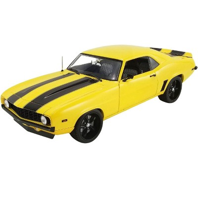 1969 Chevrolet Camaro Street Fighter Yellow Jacket with Black Stripes Limited Edition to 804 pcs 1/18 Diecast Model Car by ACME