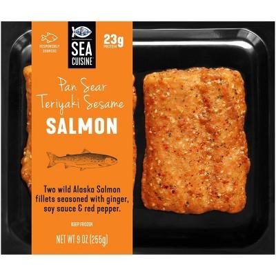 Sea Cuisine Pan Sear Teriyaki Sesame Salmon - Frozen - 9oz