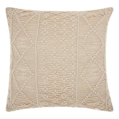 Silver Stripe Throw Pillow - Mina Victory