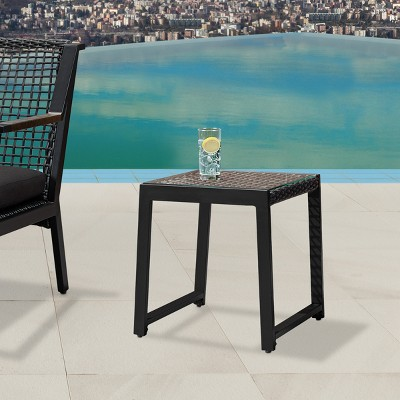 Calvin Set of 2 Side Tables Black - Real Flame