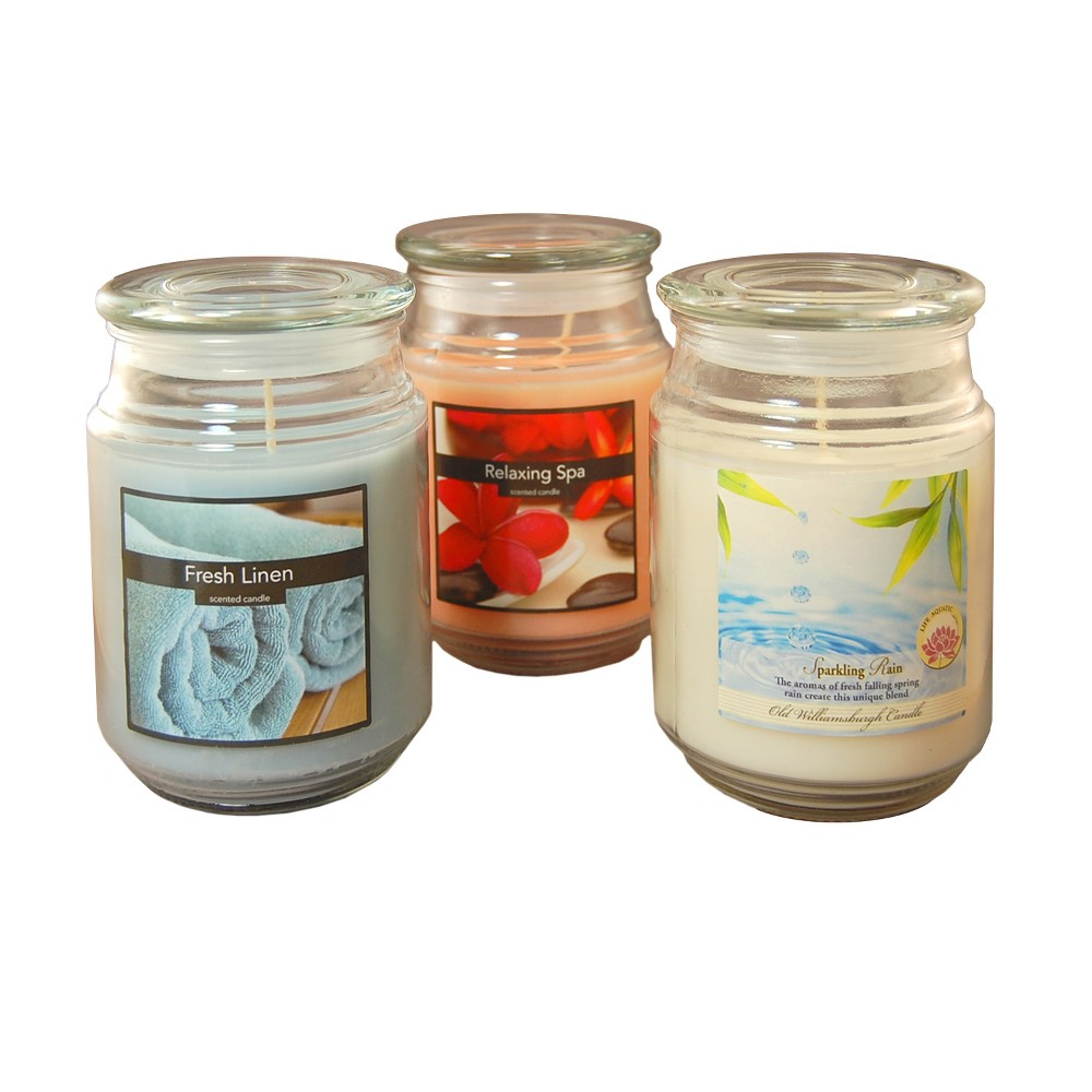 Image of 18oz 3ct Fresh Collection Scented Candle Set