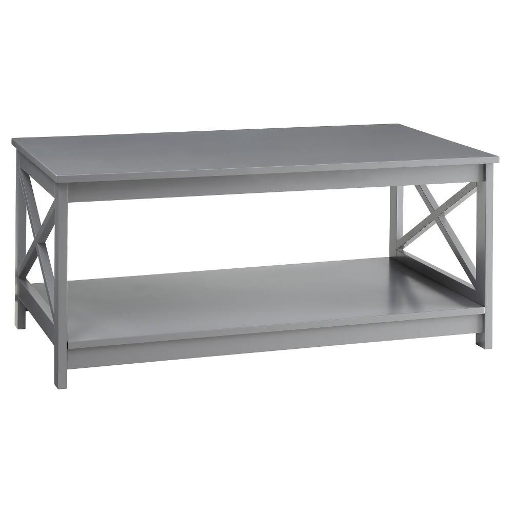 Oxford Coffee Table Gray Medium Convenience Concepts