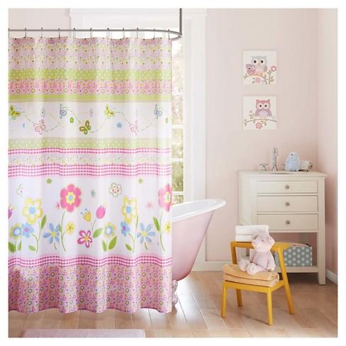 Flowers Shower Curtain Pink Green Target