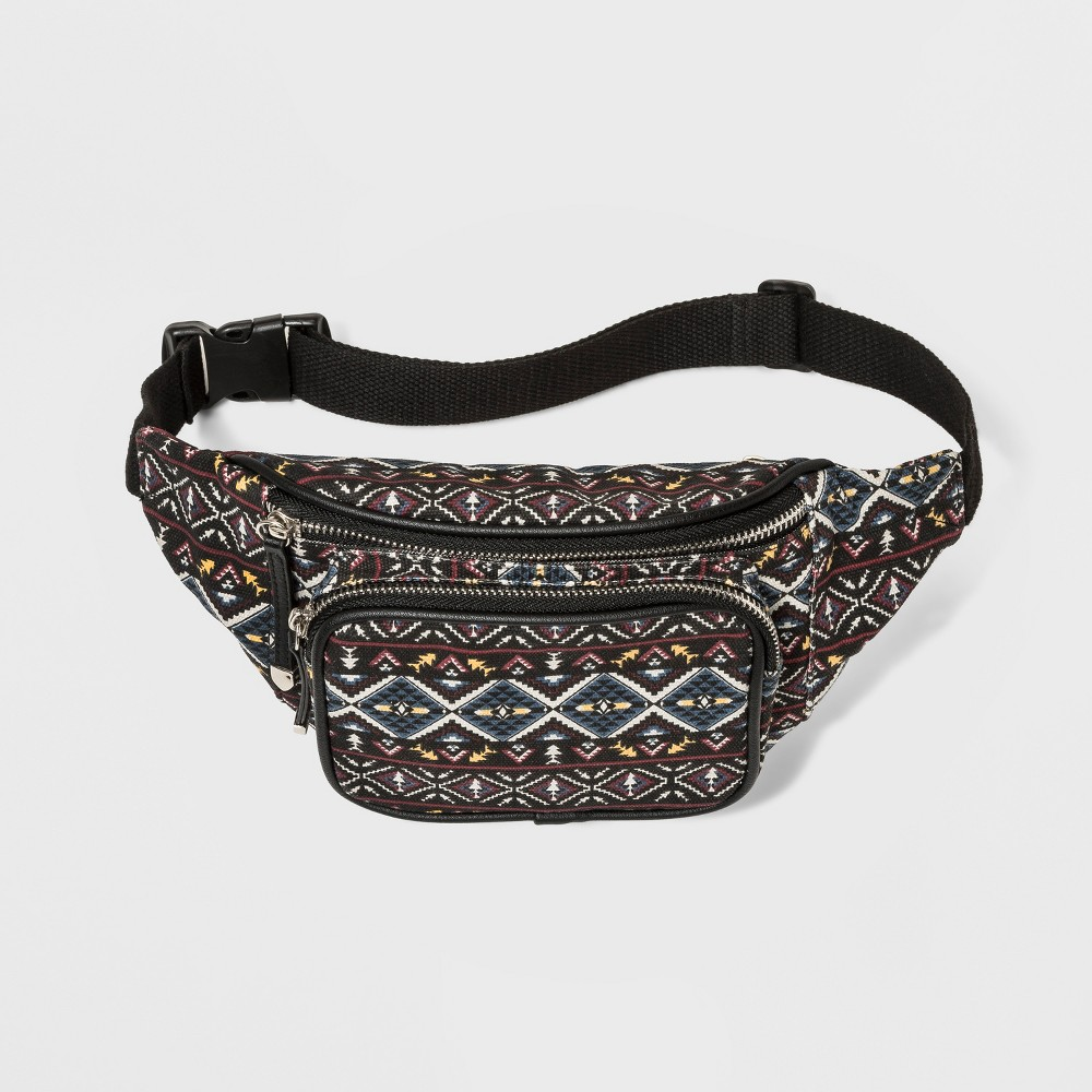Printed Canvas Fannypack - Wild Fable Black