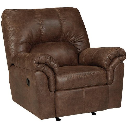 Bladen Rocker Recliner In Faux Leather Coffee - Flash Furniture - image 1 of 4