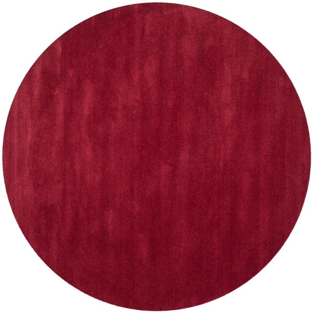 6' Solid Tufted Round Area Rug Red - Safavieh
