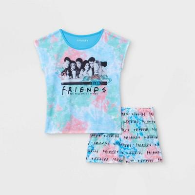Girls' Friends 2pc Pajama Set - Blue
