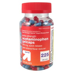 Acetaminophen 500mg Extra Strength Quick Release Pain Reliever & Fever Reducer Gelcaps - Up&Up™