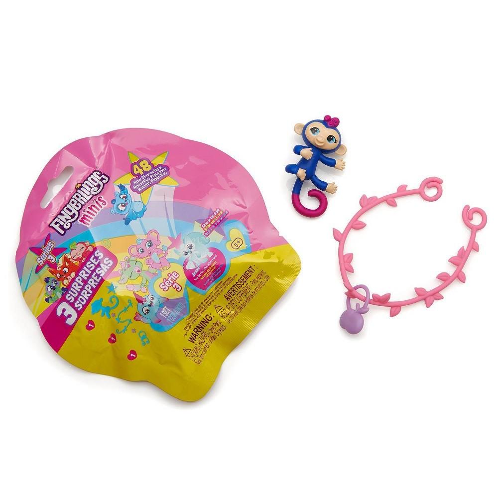 Fingerlings Minis - 3pc in Foil Bag - 1 Figure Plus Bonus Bracelet & Charm - By WowWee