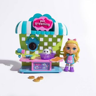 Love, Diana 2 in 1 Pop Up Pet Grooming Station and Cotton Candy Cart Playset