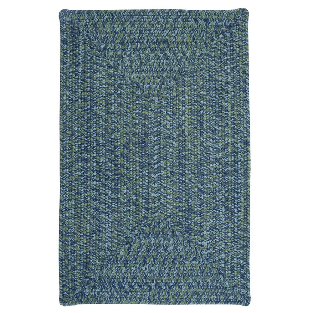 Island Tweed Braided Area Rug Blue