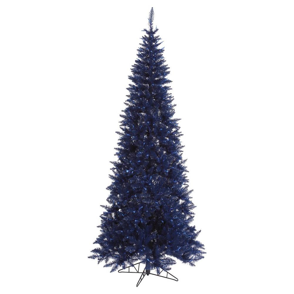 6.5ft Pre-Lit Artificial Christmas Tree Full Balsam Fir - Clear Lights, Blue