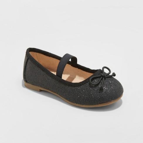 7ee1aac196f Toddler Girls  Ani Glitter Ballet Flat - Cat   Jack™ Midnight Black ...