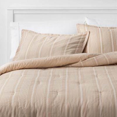 King Classic Stripe Comforter & Sham Set Natural - Threshold™