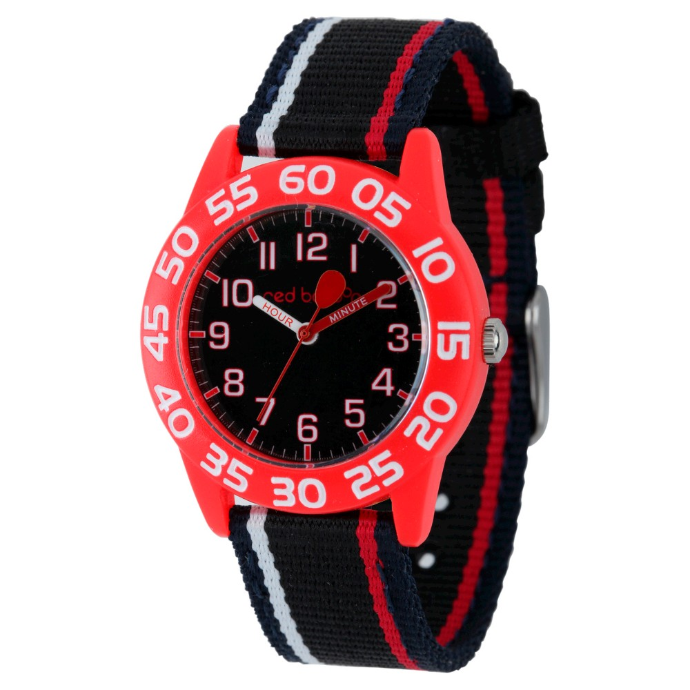 Boys Red Balloon Red Plastic Time Teacher Watch