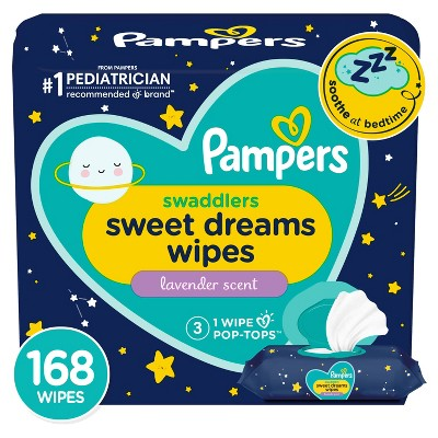 Pampers Sweet Dreams Sensitive Baby Wipes 3X FTMT - 168ct