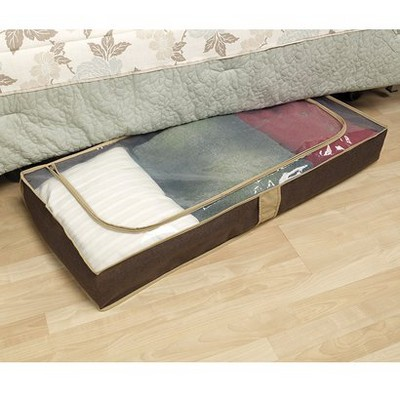 Household Essentials Under Bed Storage Chest Brown