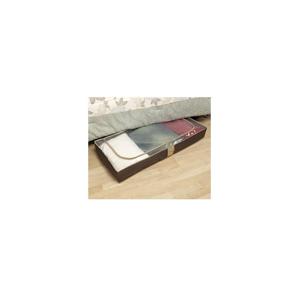 Household Essentials Under Bed Storage Chest Brown